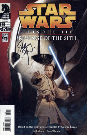 Dynamic Forces Star Wars Episode 3 Revenge Of The Sith 2 Signed By Cover Artist Dave Dorman