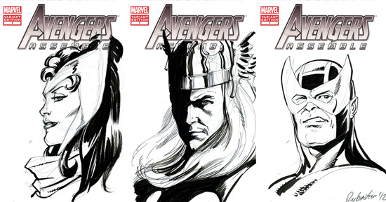 Avengers Pencil Drawing Pencil And Inked Drawing