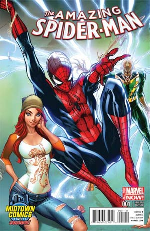 Scott Campbell Midtown Comics Variant J SUPERIOR SPIDER-MAN #31 NM
