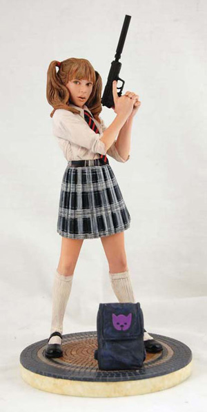 Book Cover School Uniforms : Dynamic forces hit girl school statue