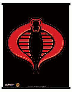 Dynamic Forces 174 G I Joe Cobra Insignia Wall Scroll