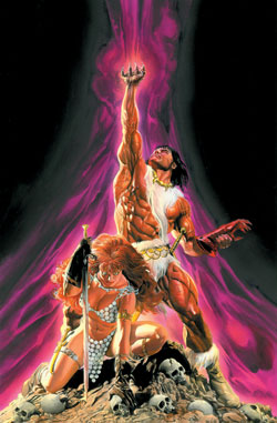 Thundercats  on Red Sonja Claw  1 Jim Lee Alex Ross Complete Cover Signed Pair