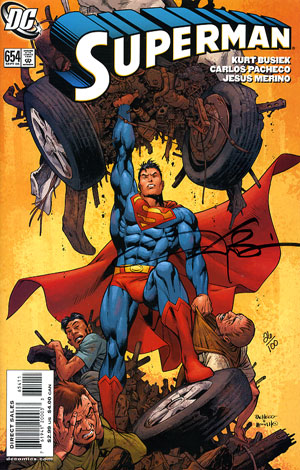 Portada de Superman 654 DC Comics