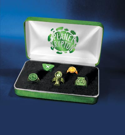 Green Lantern Rings on Kingdom Come Planet Krypton  Green Lantern Replica Set